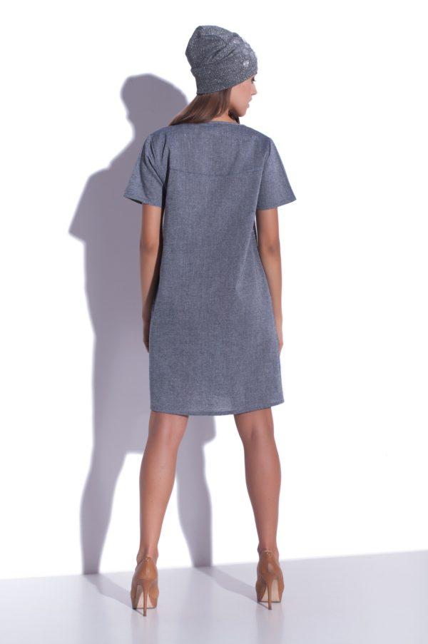 Sukienka lniana mini letnia Grey Matter