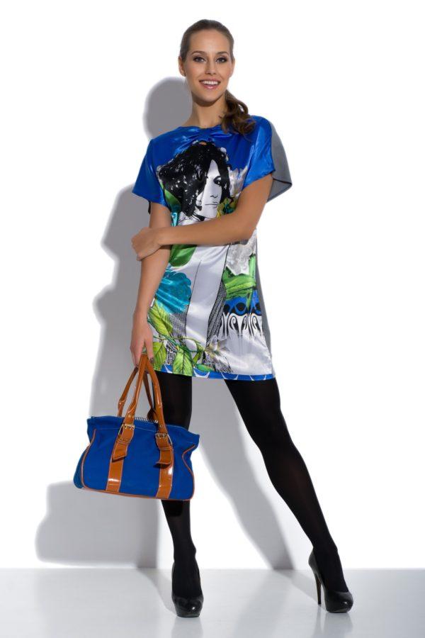 Sukienka mini portret Face-to-Face modelka front2