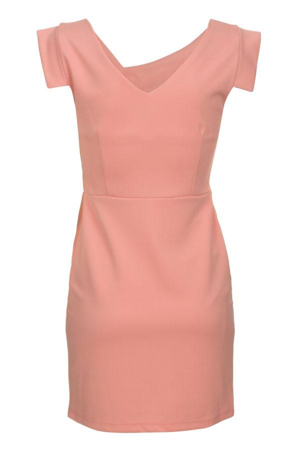 Sukienka mini z asymetrycznym dekoltem Filigran packshot back