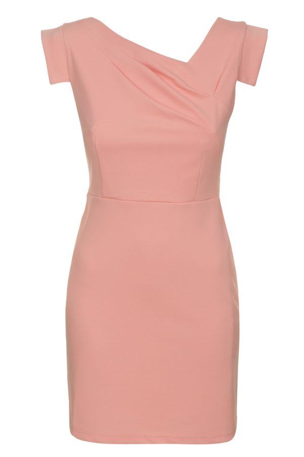 Sukienka mini z asymetrycznym dekoltem Filigran packshot front