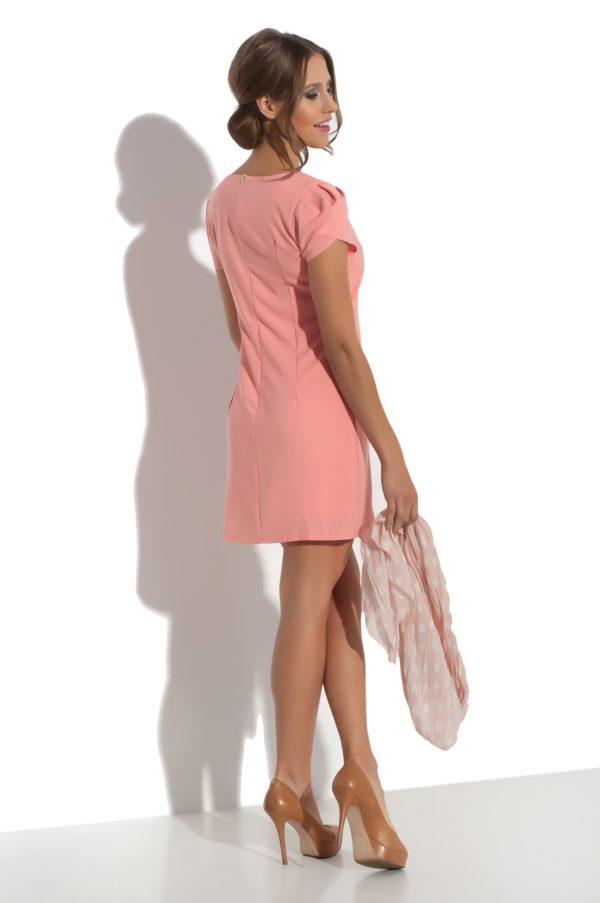Sukienka mini z falbana Fervent modelka back