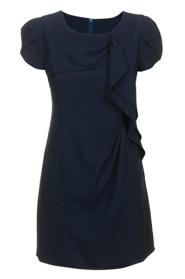 Sukienka mini z falbanami granatowa Fervent packshot front