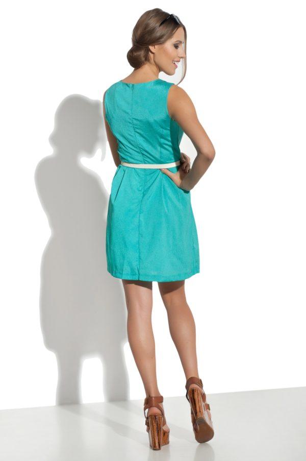 Sukienka mini z paskiem