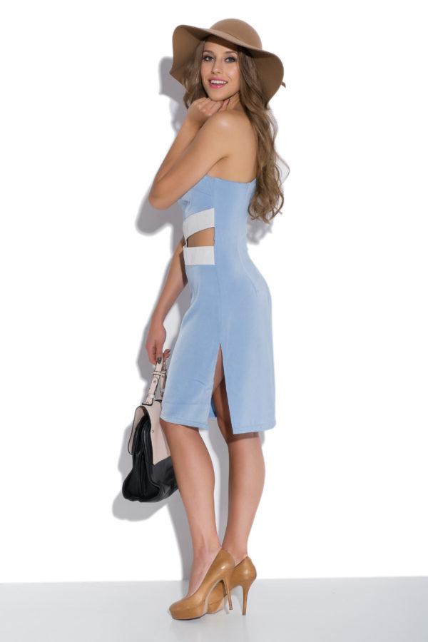 Sukienka olowkowa na jedno ramie Heaven modelka back