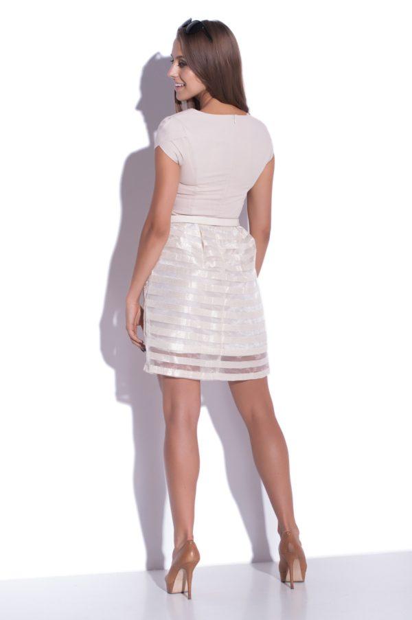 Sukienka szyfonowa mini Delight, modelka, tył