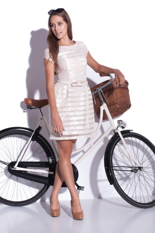 Sukienka szyfonowa mini Delight, modelka, przód