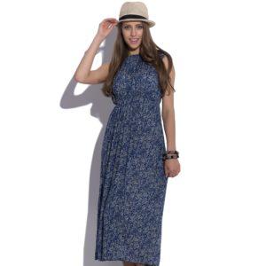 Sukienka letnia maxi elastyczna w pasie icon