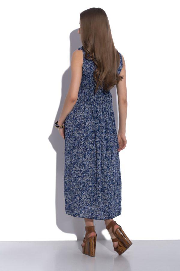 Sukienka letnia maxi elastyczna w pasie modelka back