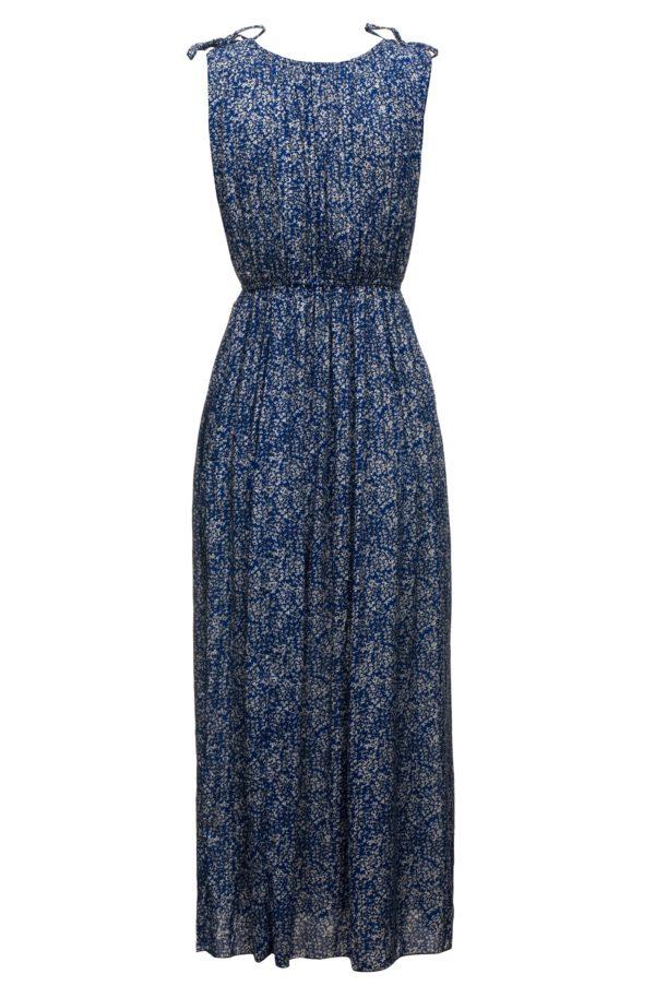 Sukienka letnia maxi elastyczna w pasie packshot back