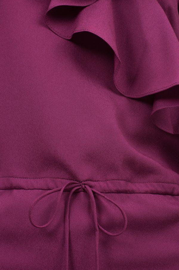 Sukienka mini z falbanami i dekoltem w kształcie litery V packshot zoom