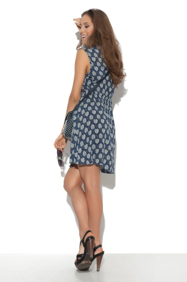 Sukienka bawelniana z motywem model back