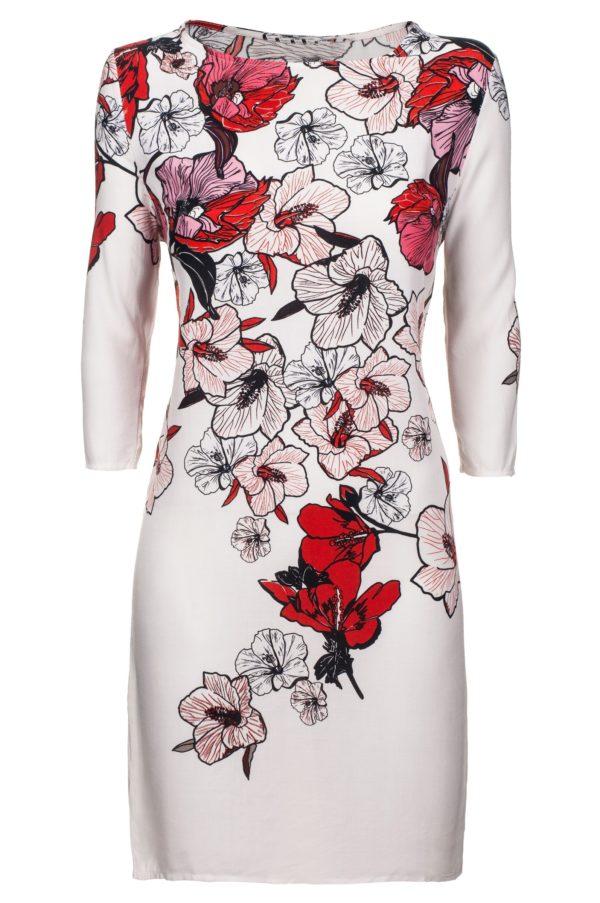 Sukienka z nadrukiem kwiatowym packshot front