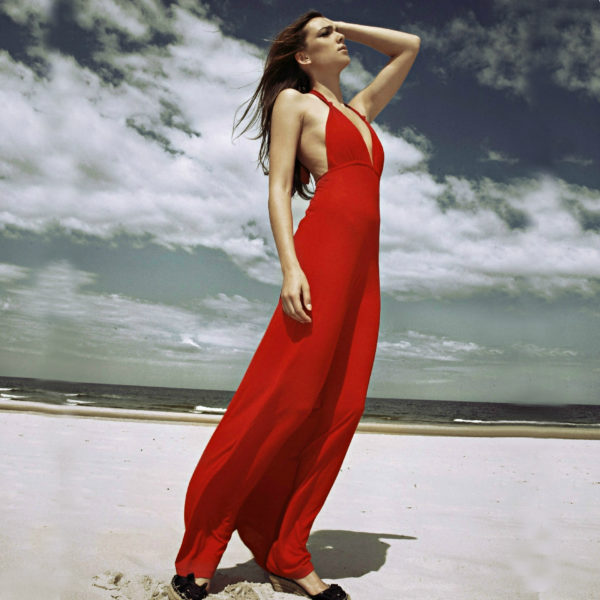 Sukienka maxi bawelniana z usztywnionym biustonoszem icon
