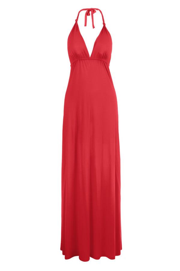 Sukienka maxi bawelniana z usztywnionym biustonoszem packshot front