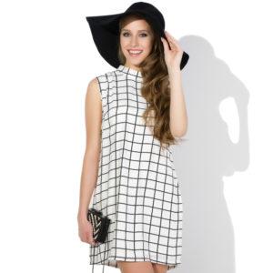 Sukienka mini w kratkę icon
