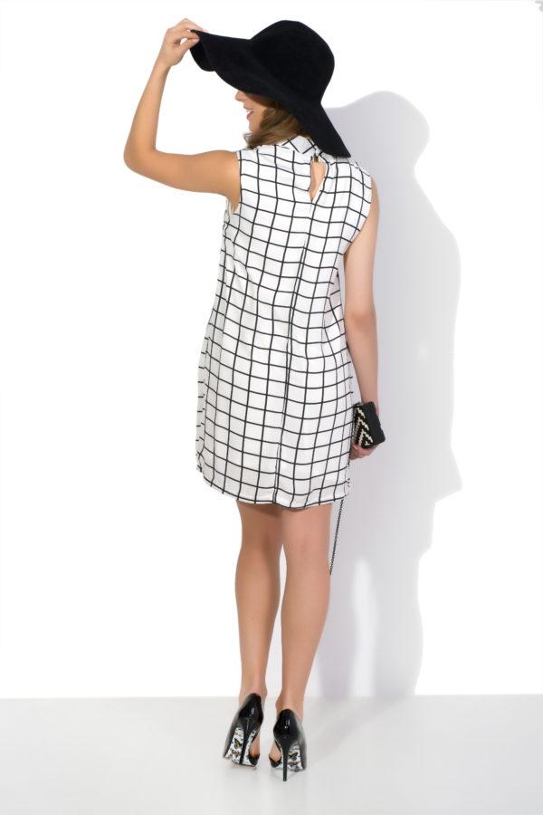 Sukienka mini w kratkę model back