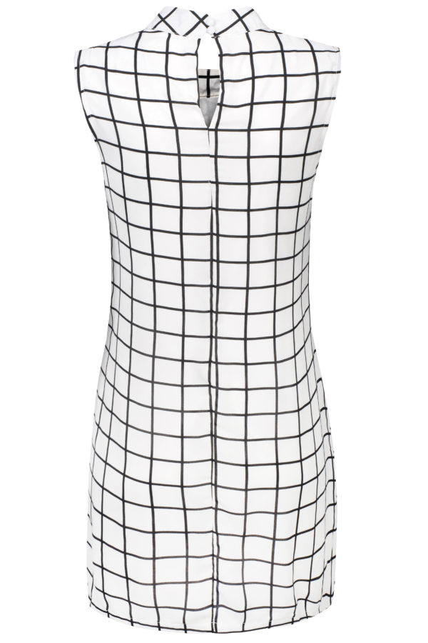 Sukienka mini w kratkę packshot back