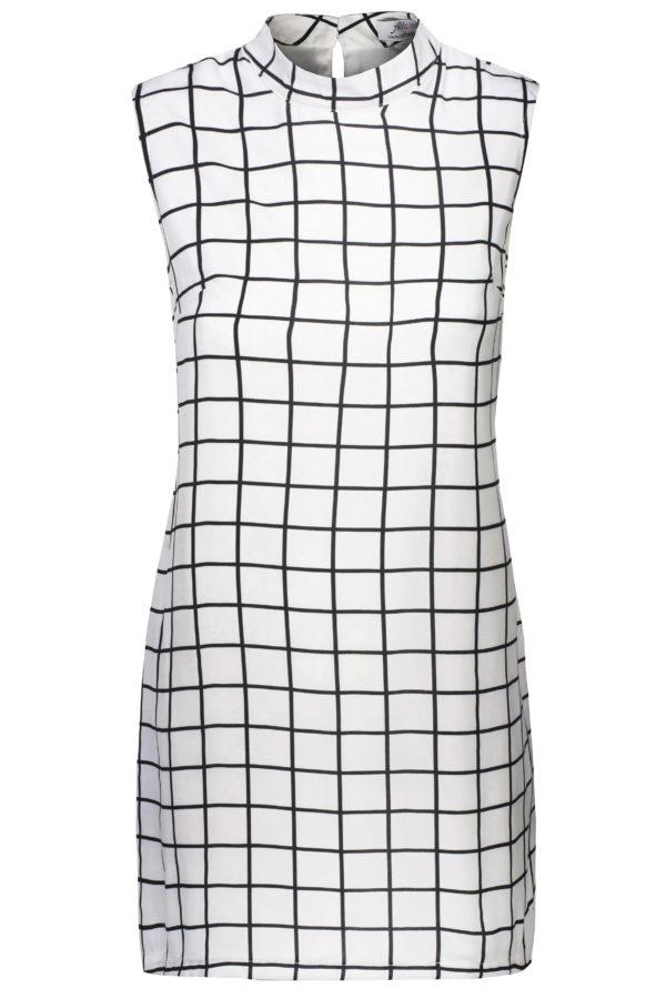 Sukienka mini w kratkę packshot front