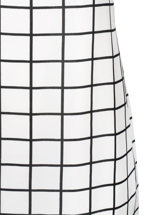 Sukienka mini w kratkę, bez rękawów, ze stójką