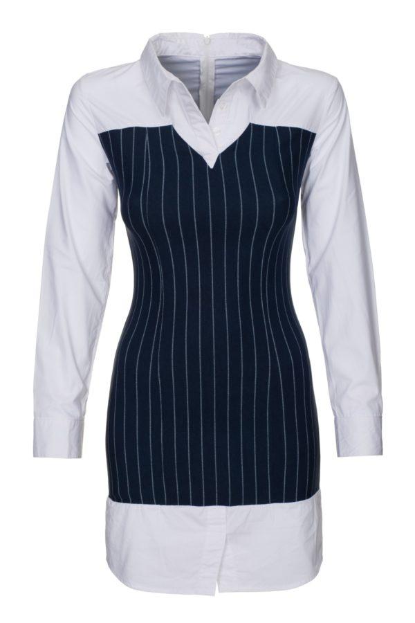 Sukienka mini koszulowa z gorsetem packshot front