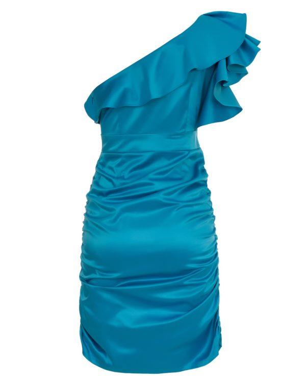 Sukienka satynowa na jedno ramię packshot back