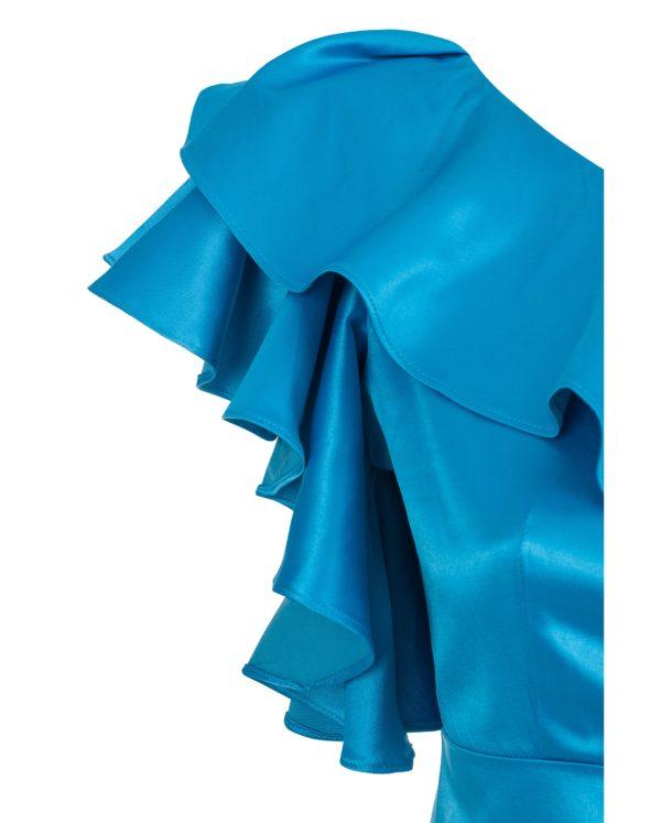 Sukienka satynowa na jedno ramię packsh