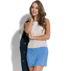 Three-color sleeveless dress Caprice