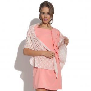 Minikleid mit einem Falbel Fervent rosa
