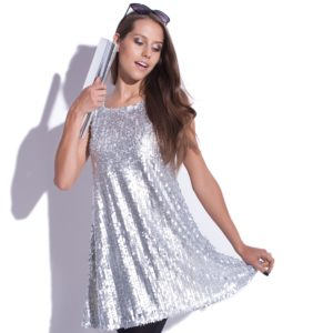 Sleeveless glitter dress Moonlight