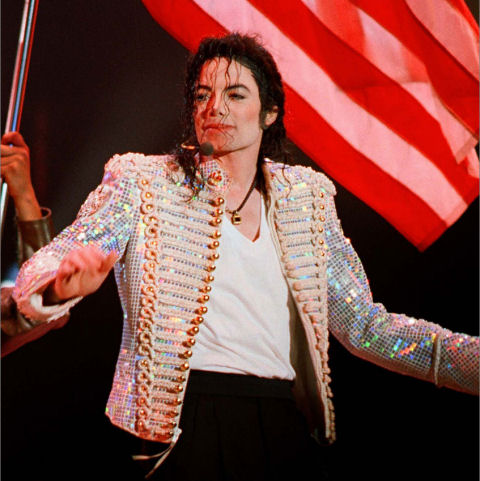 Michael Jackson w cekinach