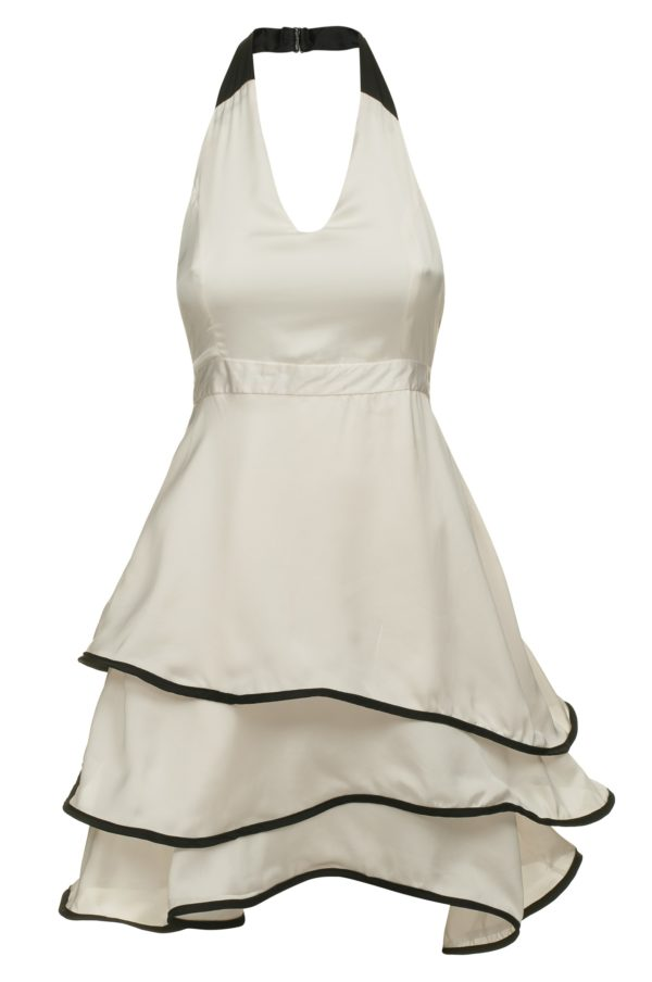Robe en soie blanche Secret Wave