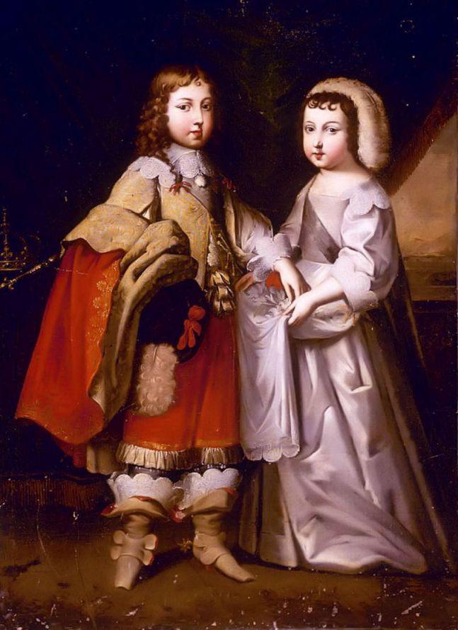 Ludwik XIV z bratem