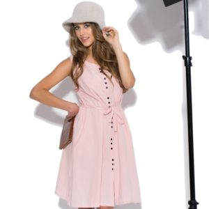 Robe en lin Summer Sorbet rose