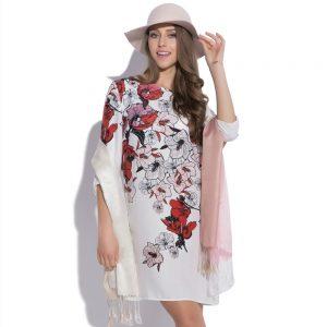 Sukienka z nadrukiem kwiatowym Illusion