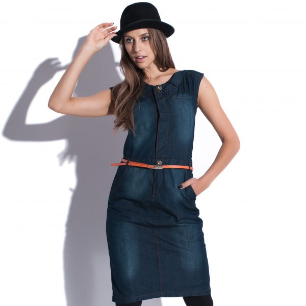 Robe midi en jeans True Blue