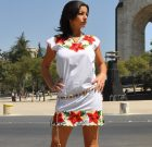 Embroidered Mexican dress Frida white