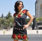 Embroidered Mexican dress Frida black