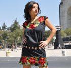 Robe mexicaine brodée Frida noire