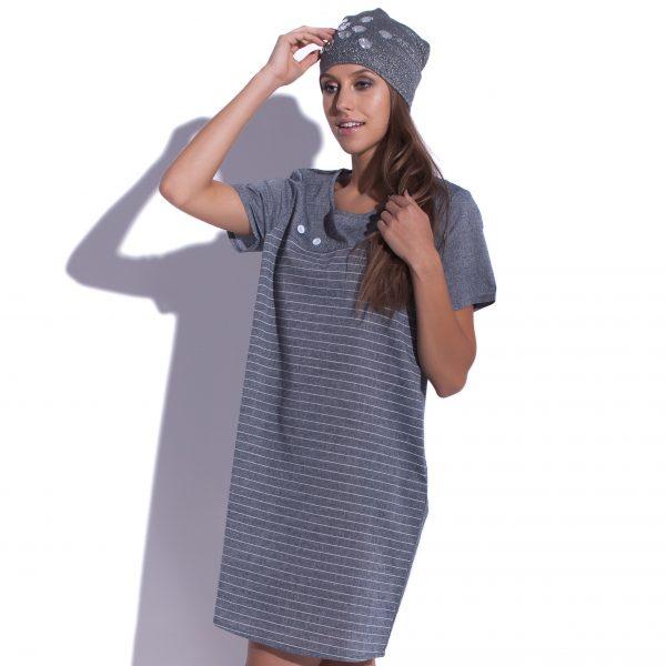 robe mini de lin Grey Matter